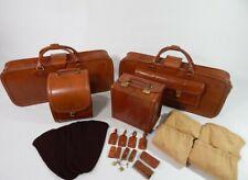 Original Ferrari 308 328 Complete 4 Piece Schedoni Tan Leather Luggage Set