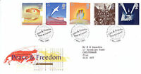 2 MAY 1995 PEACE AND FREEDOM ROYAL MAIL FIRST DAY COVER BUREAU SHS (a)