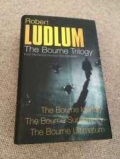 Robert Ludlum THE BOURNE TRILOGY hardback 2004 reprint Nr Fine     The Bourne Tr
