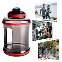 2.5L Sports Water Bottle Outdoor Gym Fitness Hiking Camping Jug Cap Kettle