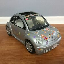 Barbie Car VW BEETLE BUG Silver Stickers GUC