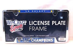 """Los Angeles Galaxy 2014 MLS Cup Champions 6""""x12"""" Metal License Plate Frame"""