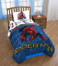 Marvel Spiderman Home Coming Wall Crawler Twin Reversible 4pc Comforter Set