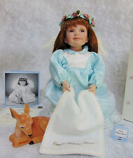 "Boxed ANGEL DOLL & Bambi Deer Ashton Drake 18"" Porcelain Lend A Helping Hand COA"