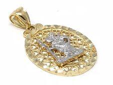 14k Two Tone Gold Saint Christopher Charm Pendant 2 grams