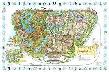 1962 Disney Map 24 x 36 Poster