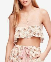 Intimately By Free People Women Lovelorn Crop Top Ivory Multicolor Size XS