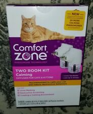 NEW 2 x More Comfort Zone Two Room Kit Calming Diffuser For Cats & Kittens