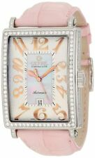 Gevril Women's 6208RV Glamour Swiss ETA Automatic White Leather DIAMOND Watch