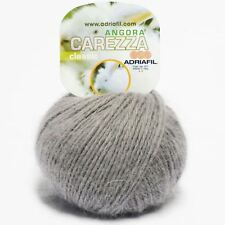 Adriafil Carezza Angora Aran Yarn / Wool 25g - Grey (34)