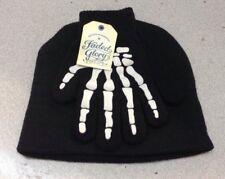 Skeleton Black Stocking Sock Hat Gloves Halloween Faded Glory Boys Girls