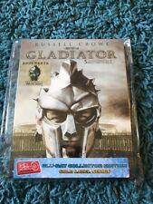 Gladiator HDZeta Full Slip Blu Ray Steelbook Gold Label Series Russel Crowe Rare