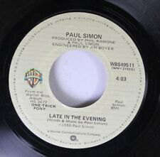 Rock 45 Paul Simon - Late In The Evening / How The Heart Approaches What It Ye 3