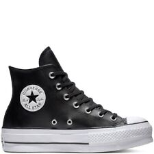 Converse 561675C Chuck Taylor All Star Platform Leather High-Top Nero