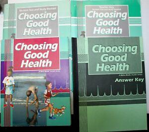 Abeka CHOOSING GOOD HEALTH pkg 1996 TEXT~TEST/STUDY~TEACHER KEY~ANSWER KEY pb