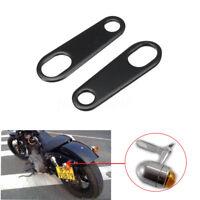 Black Motorcycle Turn Signals Indicator Relocation Bracket For Harley Cafe Racer