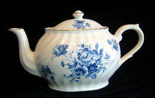 Arthur Wood & Son Blue Roses and Floral Embossed Swirls Gold Gilt Teapot 6317