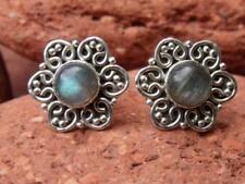 Handmade Labradorite Stone Sterling Silver Fine Earrings