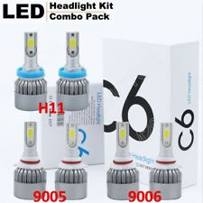9005 + 9006 + H11 Kit 3SET Combo COB Light High Low Beam LED Headlight Bulb