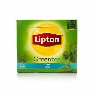 Lipton Green Tea Mint, 150g - 100 Tea Bags Free Shipping
