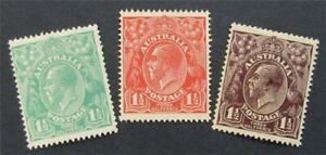 nystamps British Australia Stamp # 24//26 Mint OG H     S24x1492