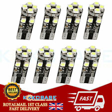 6x Error Free T10 W5W 501 LED Bulbs 8 SMD Indicator Interior Number Plate Light