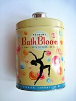 "Vintage ""Bath Bloom"" Bath Soap Tin w/ Colored Bubbles Pictured on Container  *"