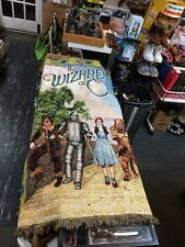 The Wizard Of Oz Throw Blanket Mohawk made in USA Collectible 2002
