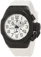 Swiss Legend Men's 10541-BB-02-WHT Trimix Diver Chronograph White Dial Watch