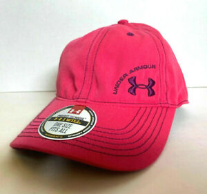 "NEW Under Armour Womens Heatgear ""I WILL"" Cap-Pink/Purple OSFA"
