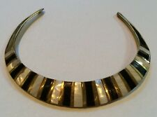 Choker Necklace - Mother-of-Pearl Brass -India- #CK 10- LOVELY BN