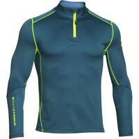 New Mens Under Armour Muscle ColdGear Heatgear Grid 1/2 Zip Top Jacket
