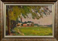 Oil painting vintage landscape, original painting, impressionism, art home decor
