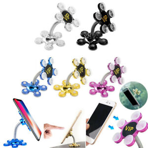 360 Rotatable Flower Sucker Stand Car Bracket Suction Cup Phone Holder Mount Q