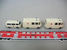 h348-0, 5 #3X Wiking H0 278 Mercedes MB L 406, 320 Volkswagen T2, Ambulance