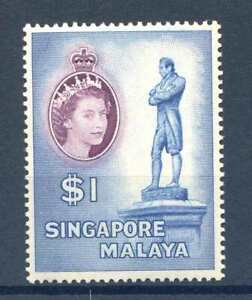 Singapore $1 Blue and Deep Purple SG50 Unmounted Mint
