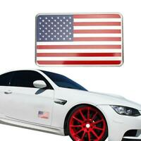 2Pcs American Flag Car Truck Metal Sticker Decal Badge Emblem Adhesive Alu New