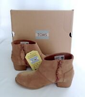 New Toms Leila Low Bootie Brown Suede Girls Back To School Shoes Choose Size