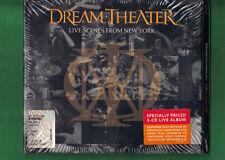 DREAM THEATER - LIVE SCENES FROM NEW YORK TRIPLO CD DIGIPACK NUOVO SIGILLATO