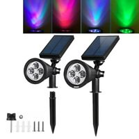 2pcs 4 Power Solar LED Landscape Light Spotlights Outdoor Garden Lawn Yard Lamp