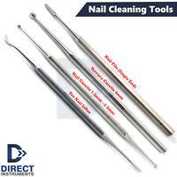 4Pcs Set Chiropody Podiatry Tool Beauty Ingrown Toenail Lifter Nail File Curette