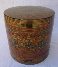 BIRMANIE boite bétel laquée birmane par Kyee Shwe Burma burmese lacqueware box