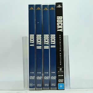 Rocky 1 2 3 4 5 DVD Bundle Lot Good Condition Free Tracked Post