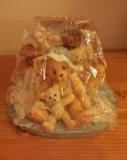 Cherished Teddies Figurine Tasha #156353 Exclusive SEALED Trunk Quilt Attic