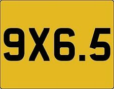 1 MOTOR BIKE -YELLOW BLANK NUMBER PLATES 9 X 6.5
