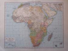 1893 Übersichtskarte von Afrika - 55x41 cm alte Landkarte Karte old map
