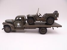 NIB  2 PC MILITARY SET 1941 CHEVY FLATBED and JEEP WILLYS