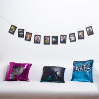 10pcs DIY Hanging Album Clip Kraft Paper Photo Frame Strings Rope Clips UK