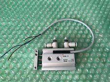 SMC CXSM6-10 Double Rod Pneumatic Cylinder, Bore: 6mm, Stroke: 10mm, M5 x 0.8