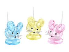 NIB $169 Swarovski Figurine Replica Mouse set of 3 Limited Edition 2016 #5243778